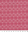 Quilter\u0027s Showcase Cotton Quilt Fabric -Damask Red