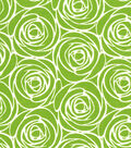 Quilter\u0027s Showcase Cotton Fabric 44\u0022-Floral Outline Green