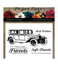 Paper Rose 5 pk Clear Stamps-Vintage Car