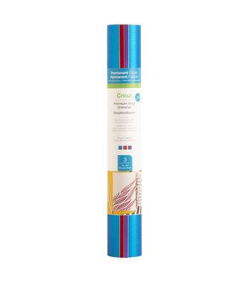 Cricut 3 pk Permanent Glitter Premium Vinyl Shimmer Samplers-Royalty