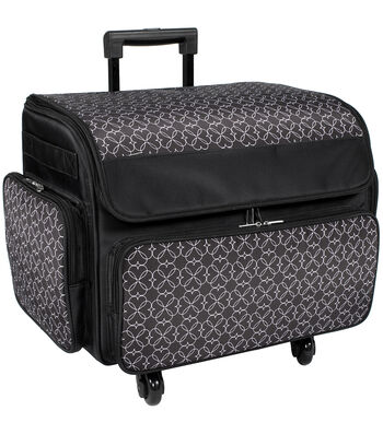 Everything Mary Rolling Sewing Case 2Pc- Black/White Geo