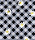 Snuggle Flannel Fabric 42\u0022-Daisy Gingham
