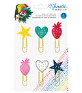 American Crafts Shimelle Box of Crayons 6 pk Glitter Icon Paper Clips