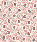 Vintage Cotton Fabric -Packed Floral Circles