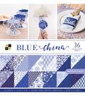 DCWV Pack of 36 12\u0027\u0027x12\u0027\u0027 Premium Printed Cardstock Stack-Blue China