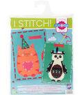 Vervaco I Stitch! Kits 4 Kids Embroidery Cards Kit-Cat & Panda