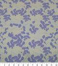 Quilter\u0027s Showcase Cotton Fabric-Leaves Sketched Aqua Lavender