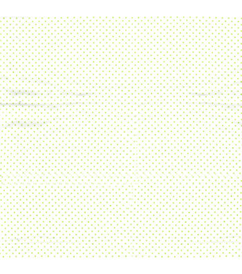 Snuggle Flannel Fabric 42''-Green Dots on White