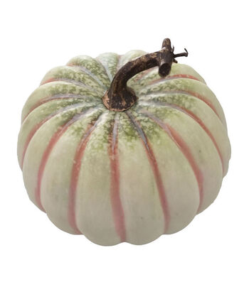 Blooming Autumn Medium Realistic Pumpkin-White