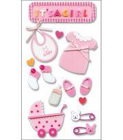 Jolee's Layered Foam Stickers-Baby Girl, , hi-res
