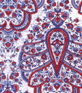 Buttercream Poppy Collection Cotton Fabric-Lg Floral Medallion