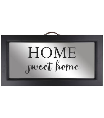 Distressed Mirror 13''x24''-Home Sweet Home