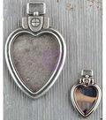 Prima Marketing Finnabair Mechanicals 2 pk Metal Heart Locket Pendants