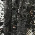 Holiday Shine Velvet Embroidered Lace Fabric 55\u0022-Black