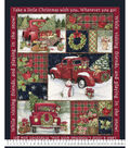 Christmas Cotton Fabric-Red Truck Collage