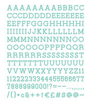 DCWV Home 188 Pack 1'' Letters-Teal, , hi-res