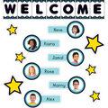 Aqua Oasis: Welcome Bulletin Board Set