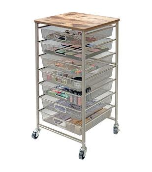 Tim Holtz Signature Design Industrial 7-Drawer Storage Cart