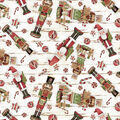 Christmas Cotton Fabric-Tsd Vintage Nutcrackers
