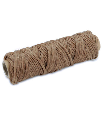 Tandy Leather Factory Braided Sinew 4mm 20 Yard Spool-Natural