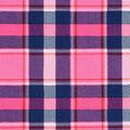 Doodles Juvenile Rayon Apparel Fabric -Pink Plaid