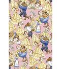 Disney Belle & The Beast Cotton Fabric -Books