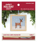 Wood Cross Stitch Ornament Kit-Deer