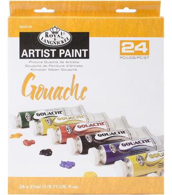 Gouache Acrylic Paints 21ml 24/Pkg-Assorted Colors