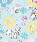 Snuggle Flannel Fabric -Sweet Woodland Animals