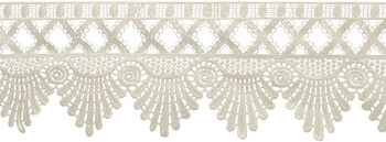Wrights Scalloped Edge Venice Lace Trim 3.5''x6 yds-Ivory