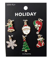 hildie & jo Holiday Charms-Enamel Santa Hats, , hi-res
