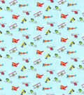 Novelty Cotton Fabric-Planes & Helicopters