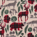 Anti-Pill Plush Fabric-Plaid on Wilderness Animals