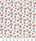 Premium Prints Cotton Fabric 43\u0022-Cherries on Starburst