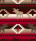 Snuggle Flannel Fabric -Red Aztec