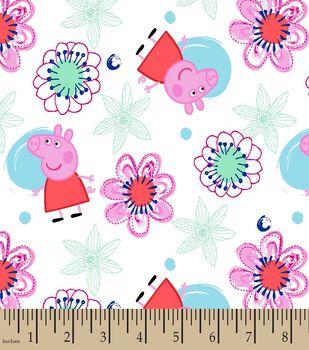 Peppa Pig Floral Print Fabric