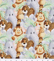 Jungle Babies Nursery Cotton Fabric 44''-Animals, , hi-res