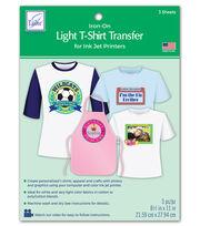 June Tailor Light T-Shirt Transfer Paper 3/Pkg, , hi-res