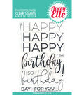 Avery Elle 11 pk Photopolymer Clear Stamps-Big Birthday