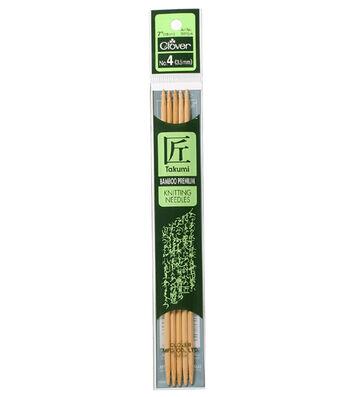 "Takumi Bamboo Double Point Knitting Needles 7"" 5/Pkg-Size 4/3.5mm"