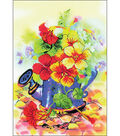 RIOLIS Stamped Cross Stitch Kit 8.25\u0022X11.75\u0022-Garden Watering Can