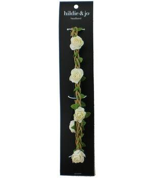 hildie & jo Flowers Headband-Cream