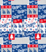 Christmas Los Angeles Dodgers Cotton Fabric-Winter, , hi-res