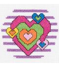 Bucilla My 1st Mini Counted Cross Stitch Kit Heart