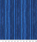 Keepsake Calico Cotton Fabric-Glitter & Blue Tonal Stripes