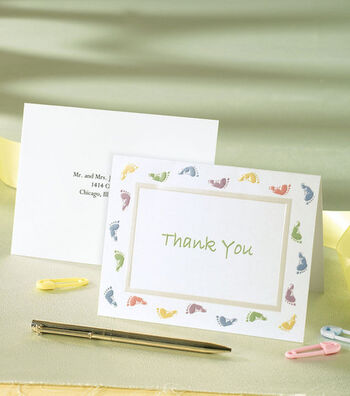 Wilton 20 ct. Baby Feet Thank You Cards