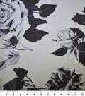 Gianna 100% Silk Rayon Print Fabric 42\u0022-Abstract Floral White