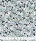 Keepsake Calico Cotton Fabric-Gray Watercolor Floral