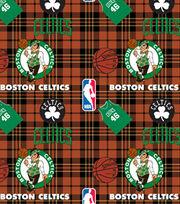 Boston Celtics Fleece Fabric -Plaid, , hi-res