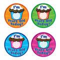 Teacher Created Resources I\u0027m __ Years Old Today Wear \u0027Em Badge, 32/Pack